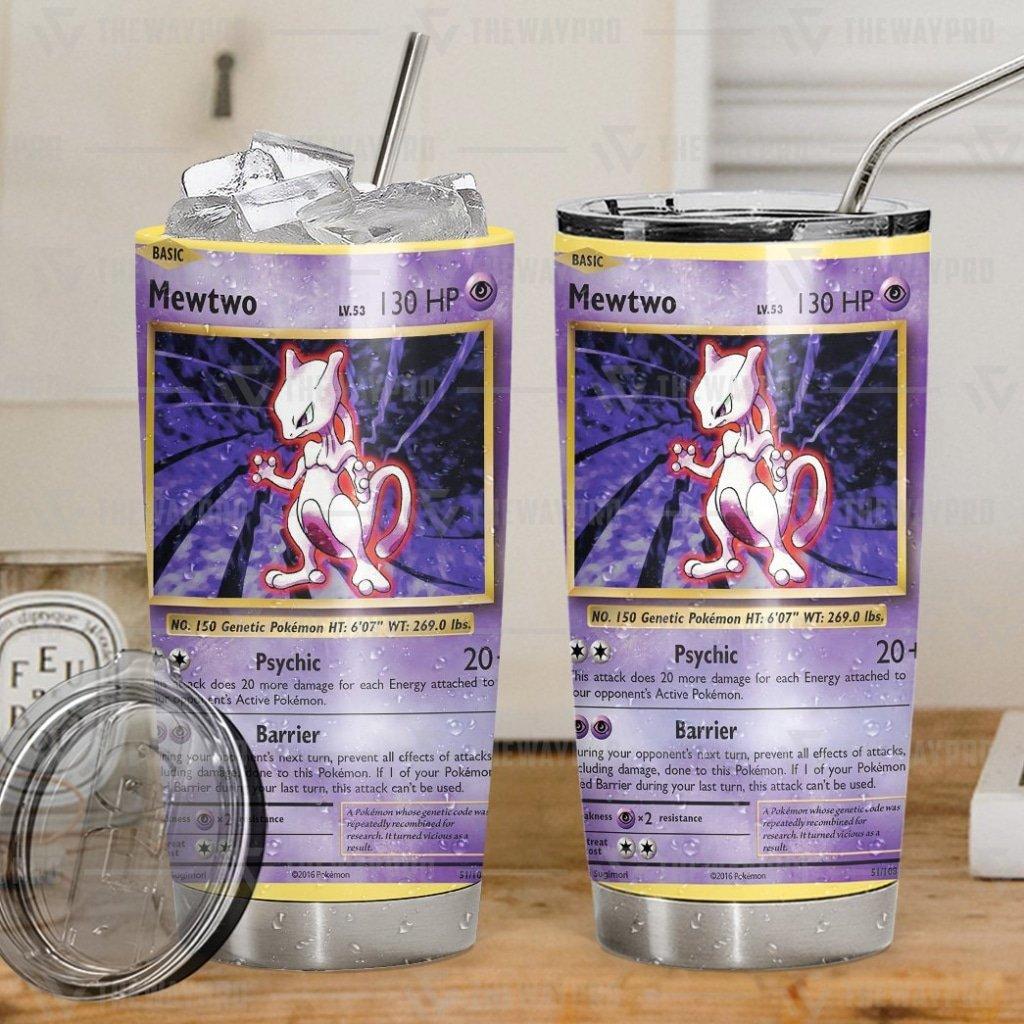 Anime Pokemon Mewtwo Evolutions Tumbler Cup