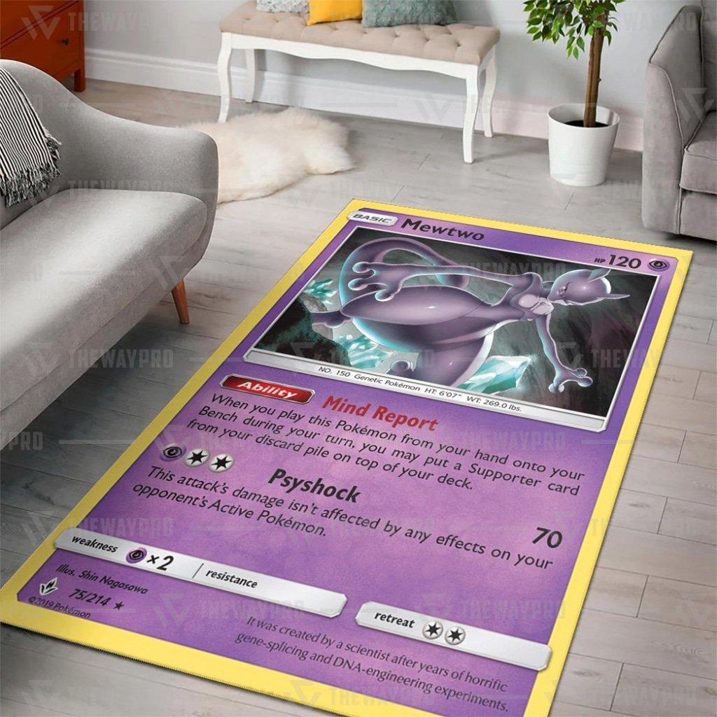 Anime Pokemon Mewtwo Unbroken Bonds Mind Report Carpet Rug