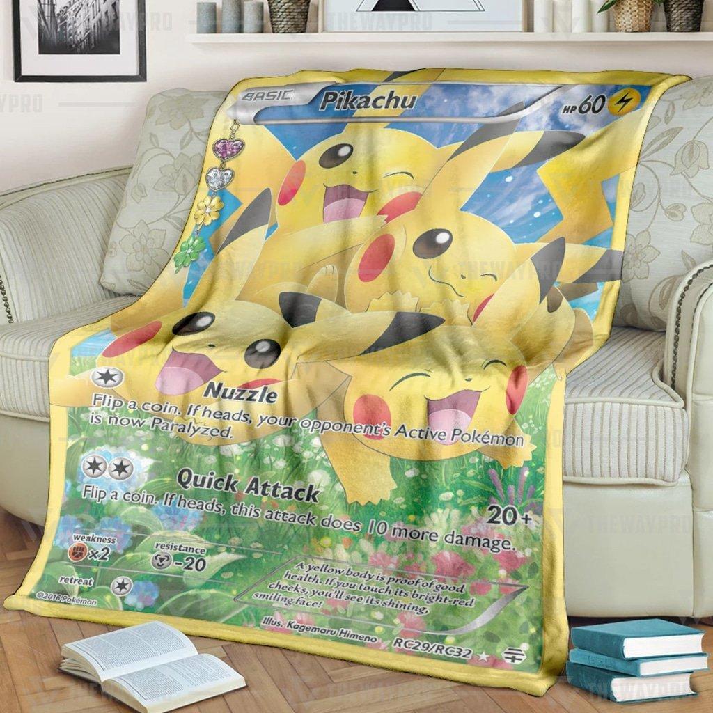 Pokemon Pikachu Generations Fleece Blanket