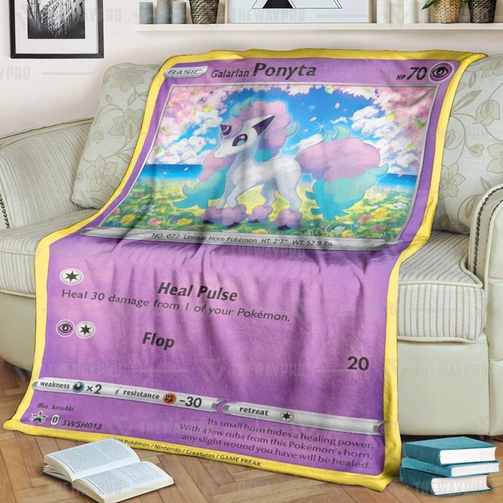 Pokemon Ponyta Fleece Blanket