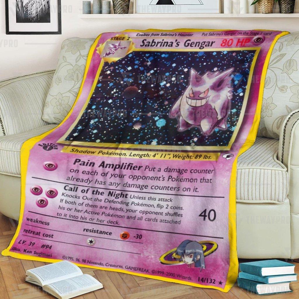 Pokemon Sabrina's Gengar Fleece Blanket