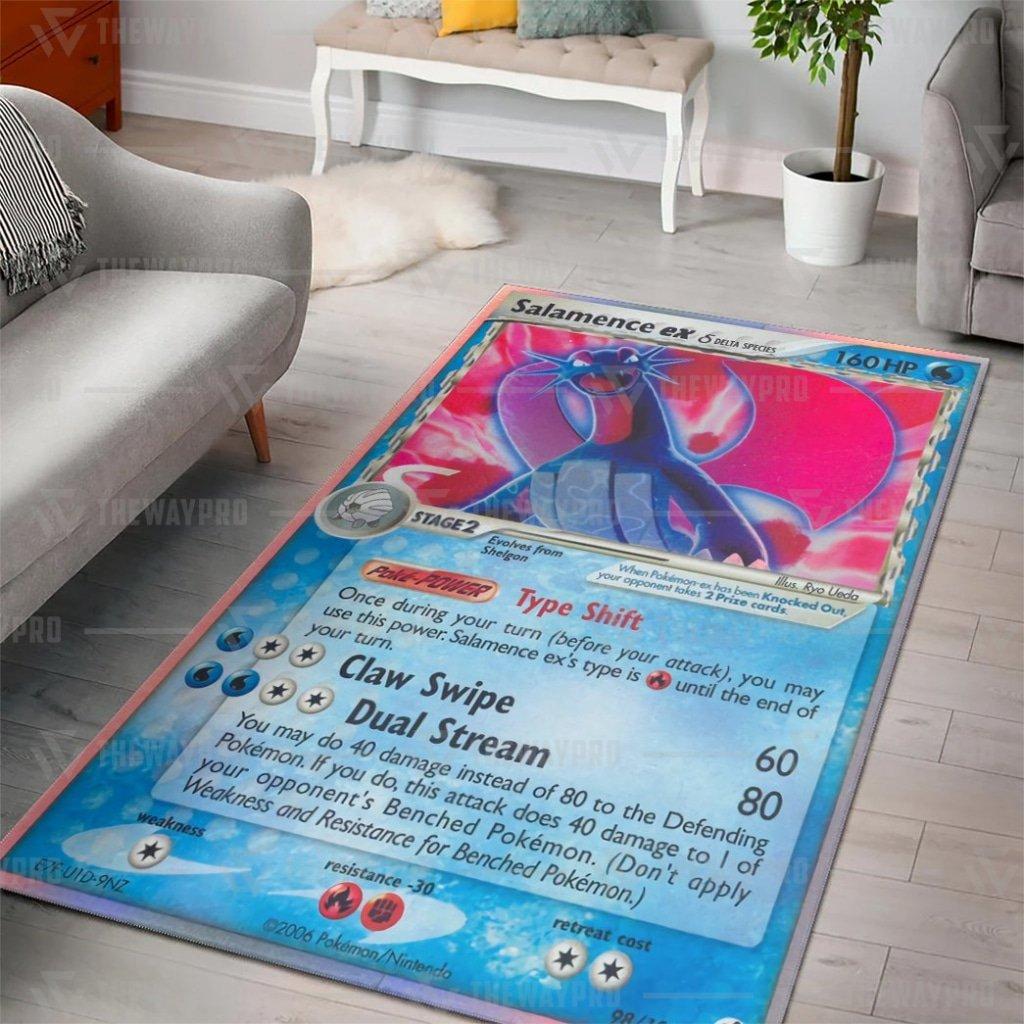 Anime Pokemon Salamence EX Carpet Rug