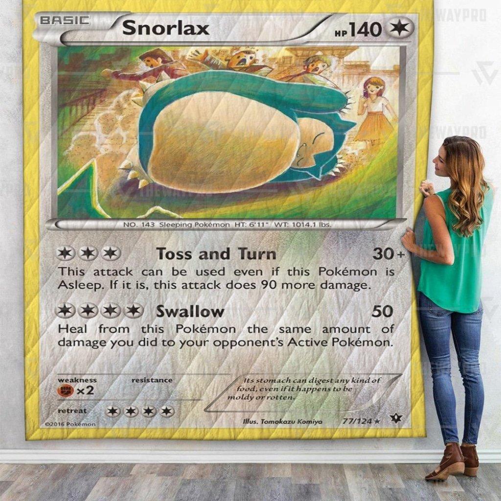 Pokemon Snorlax Premium Quilt Blanket