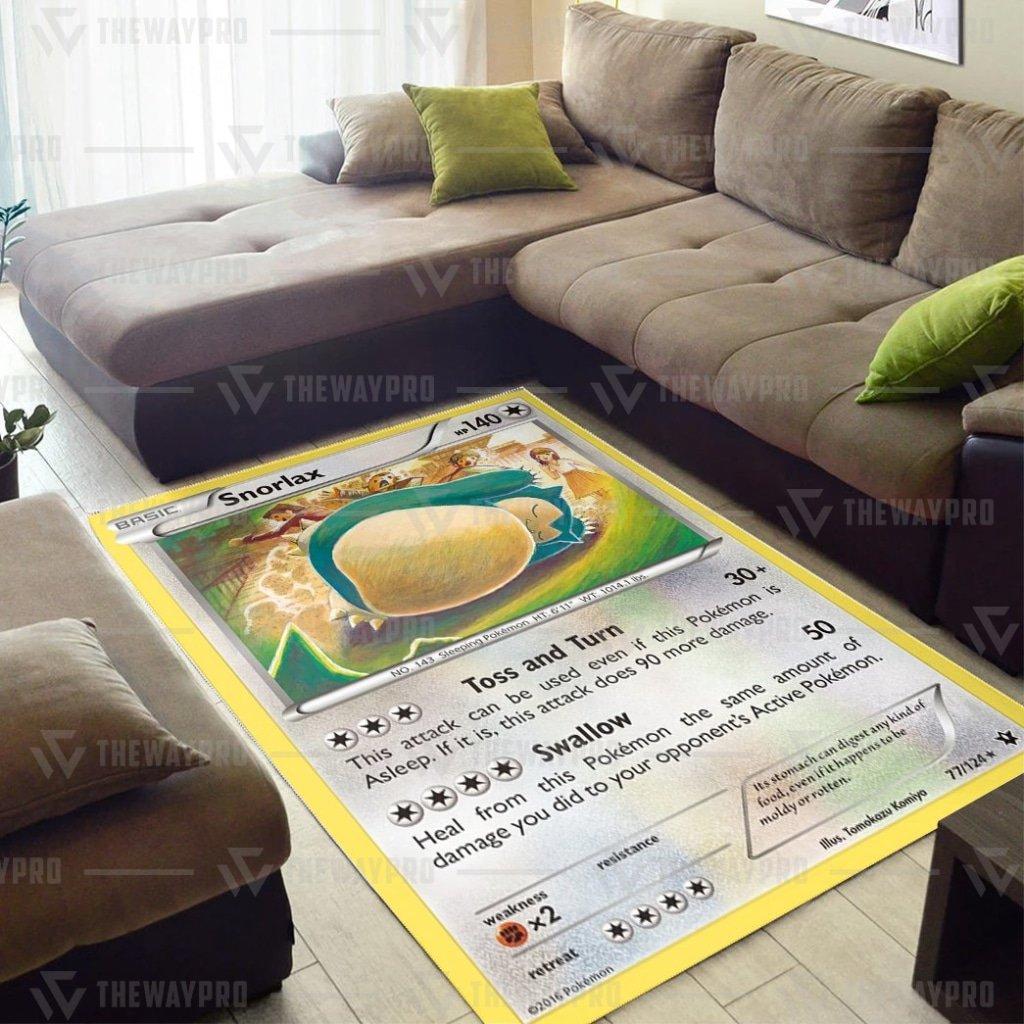 Pokemon Snorlax Carpet Rug