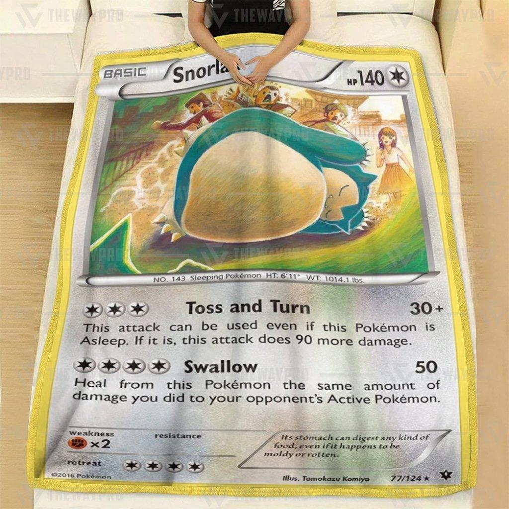 Pokemon Snorlax Fleece Blanket