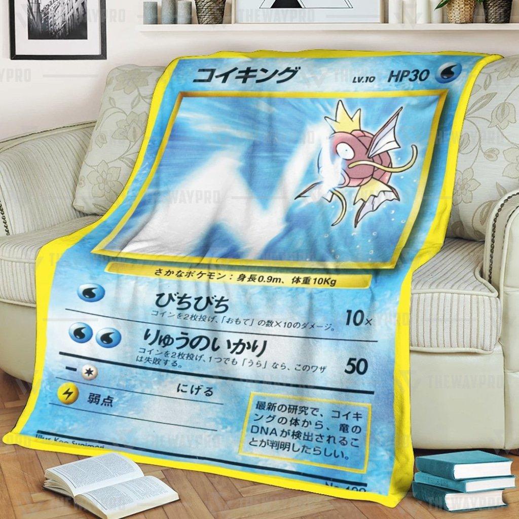 Magikarp Pokemon Tamamushi University Japanese card Fleece Blanket
