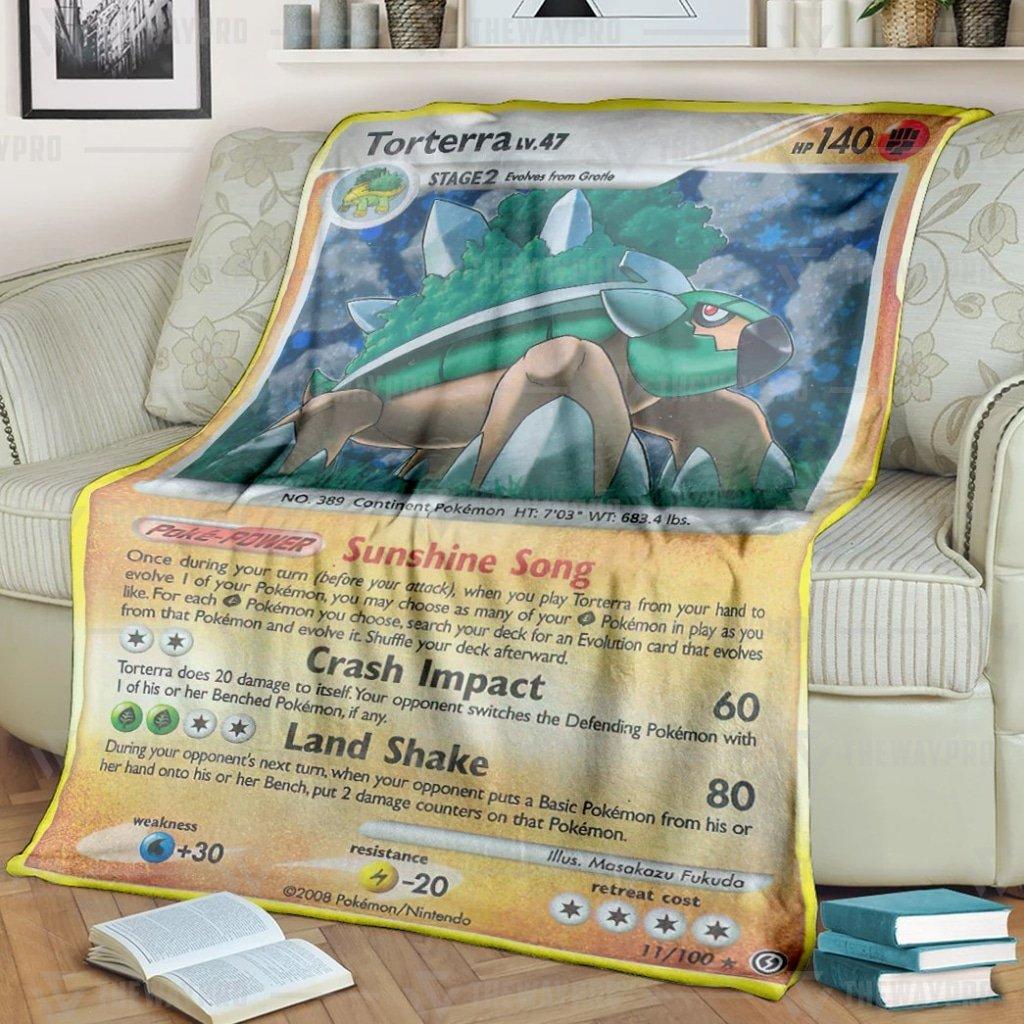 Pokemon Torterra LV47 Fleece Blanket