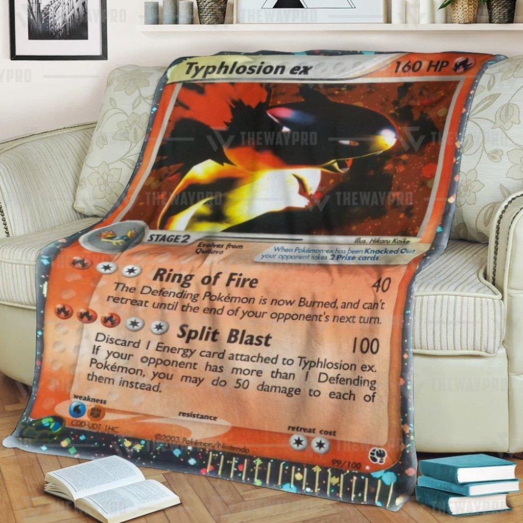 Pokemon Typhlosion EX Fleece Blanket