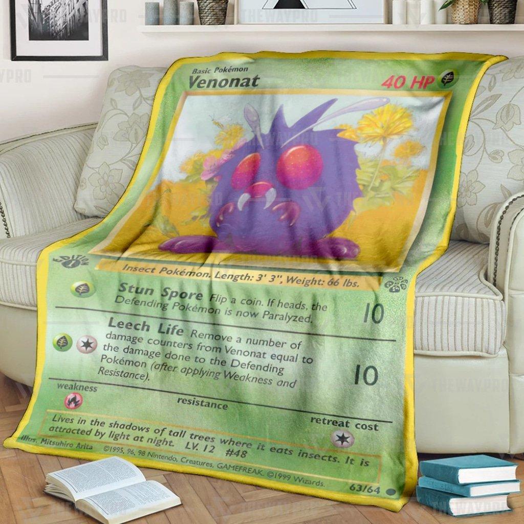 Pokemon Venonat Fleece Blanket