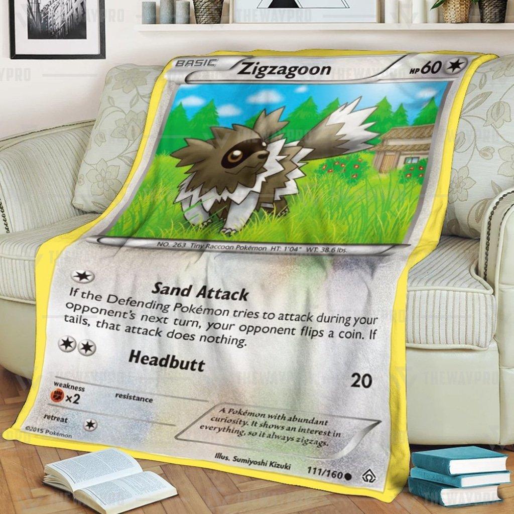 Pokemon Zigzagoon Fleece Blanket