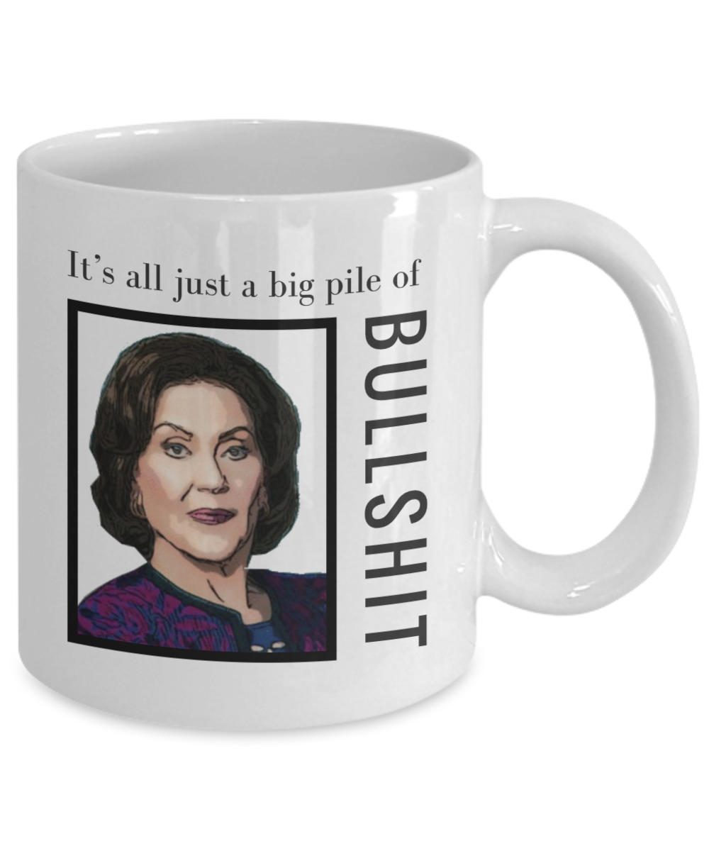 Girl Big Pile of Bullshit Mug
