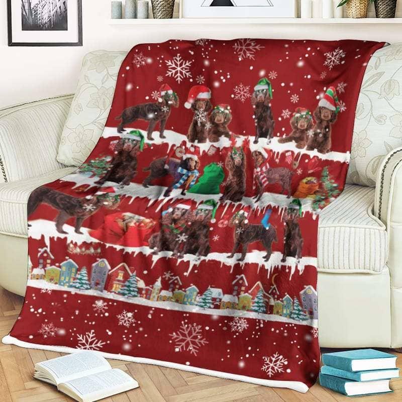Boykin Christmas Fleece Blanket for Dog Lover