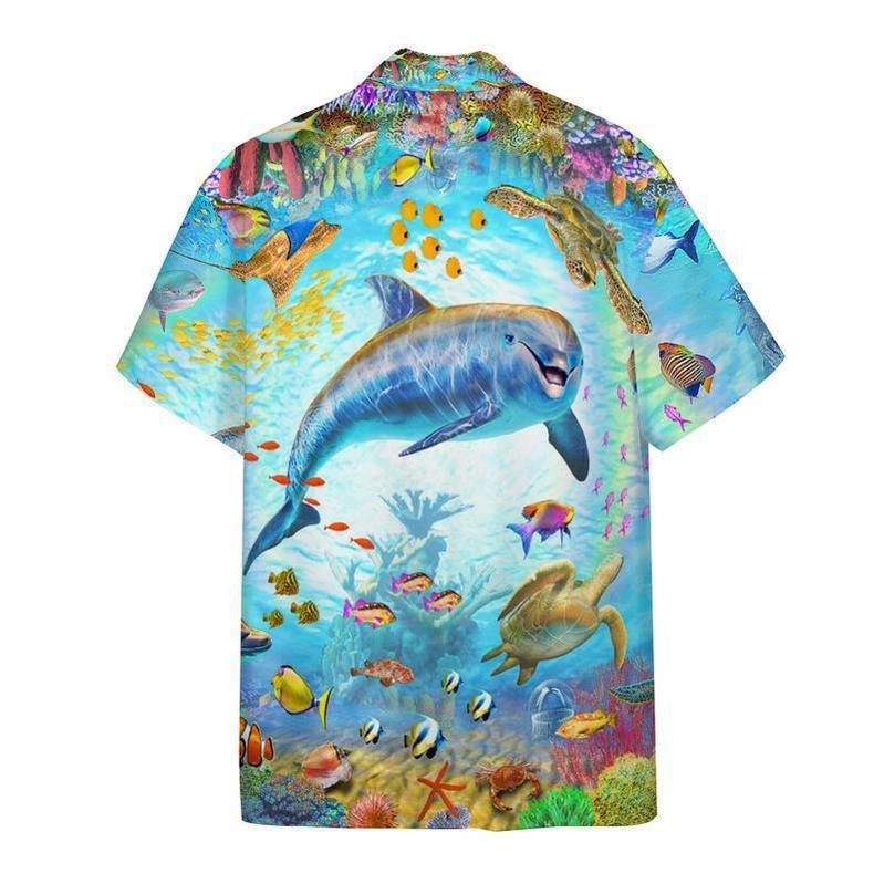 Dolphin Friend In The Ocean World Hawaiian Shirt
