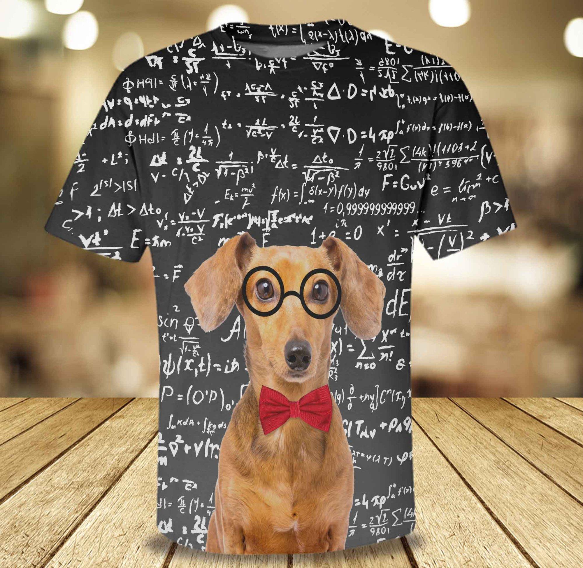 dachshund loves math 3d AOP Hoodie and Sweatshirt