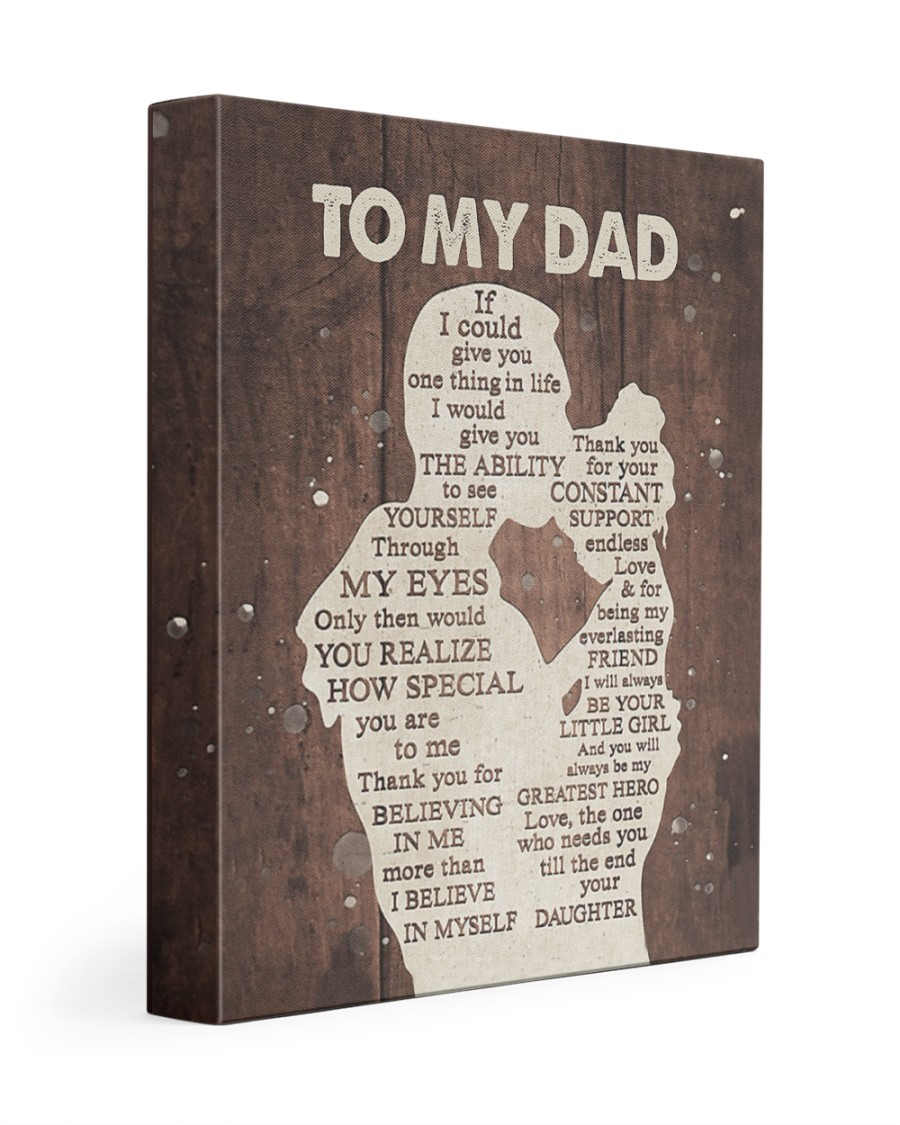 Daughter Love To Dad Words inside Poster