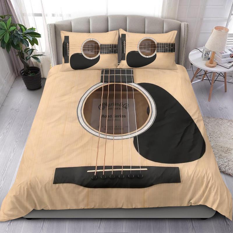 Guitar vintage style Bedding set