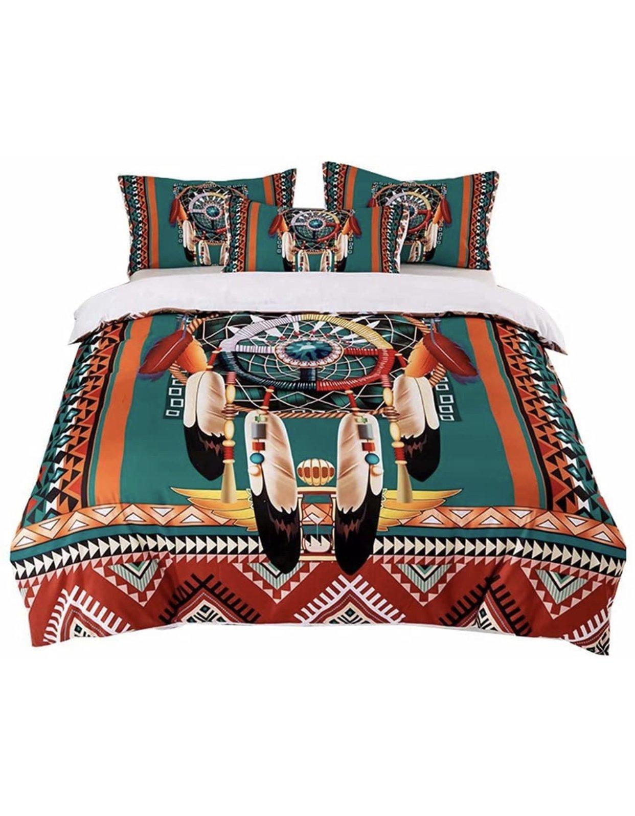 Colorful Dreamcatcher Native Bedding Set