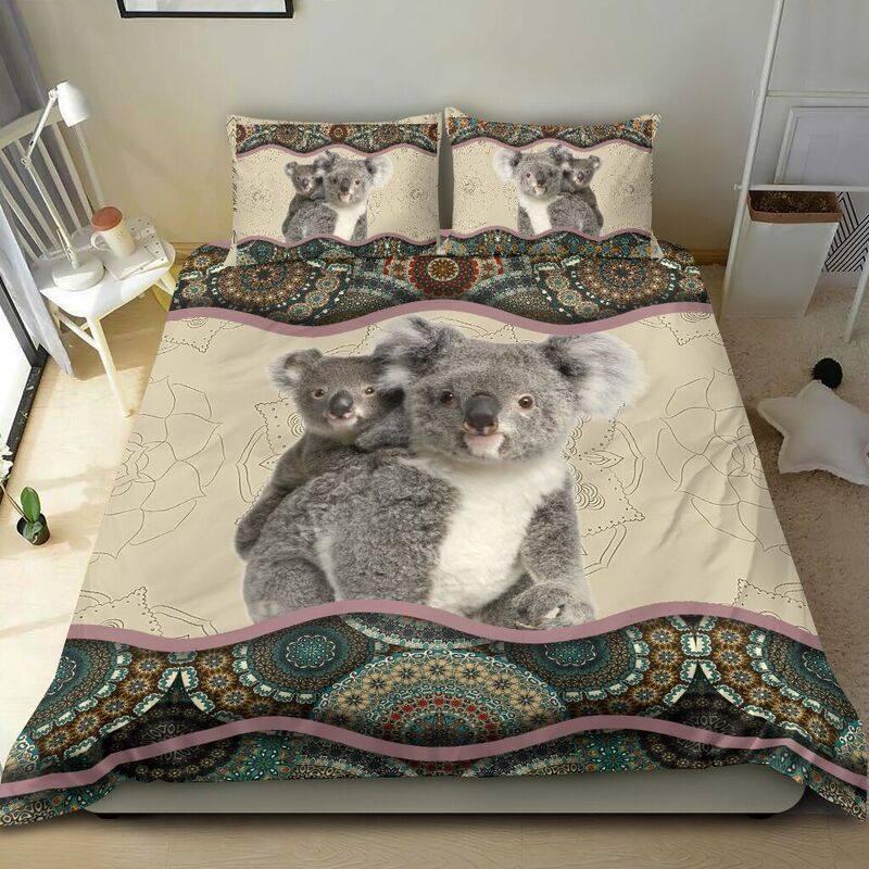 Koala family together amazing Bedding set