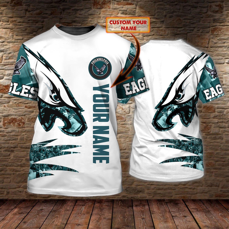 NFL Philadelphia Eagle Personalized Name 3D Tshirt