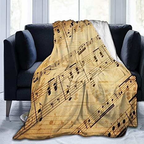 Vintage music notes Fleece Blanket