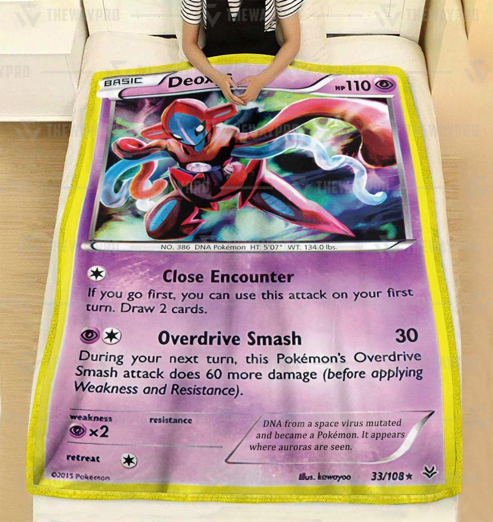 Pokemon Deoxys Cosplay Fleece Blanket