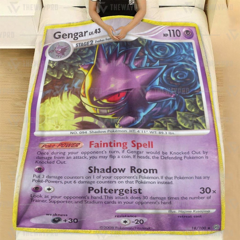Pokemon Gengar Stormfront Fleece Blanket