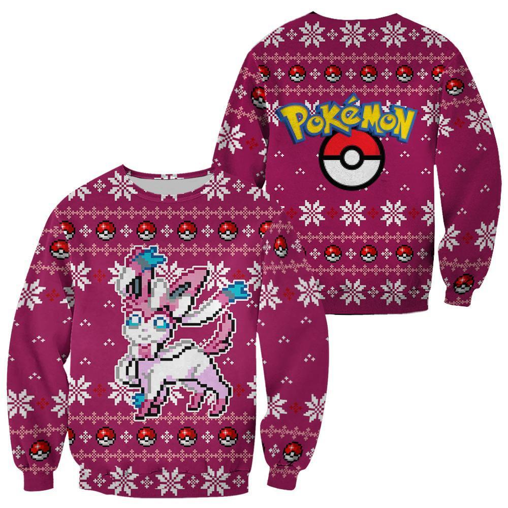 Pokemon Sylveon Ugly Christmas Sweater Xmas Gift