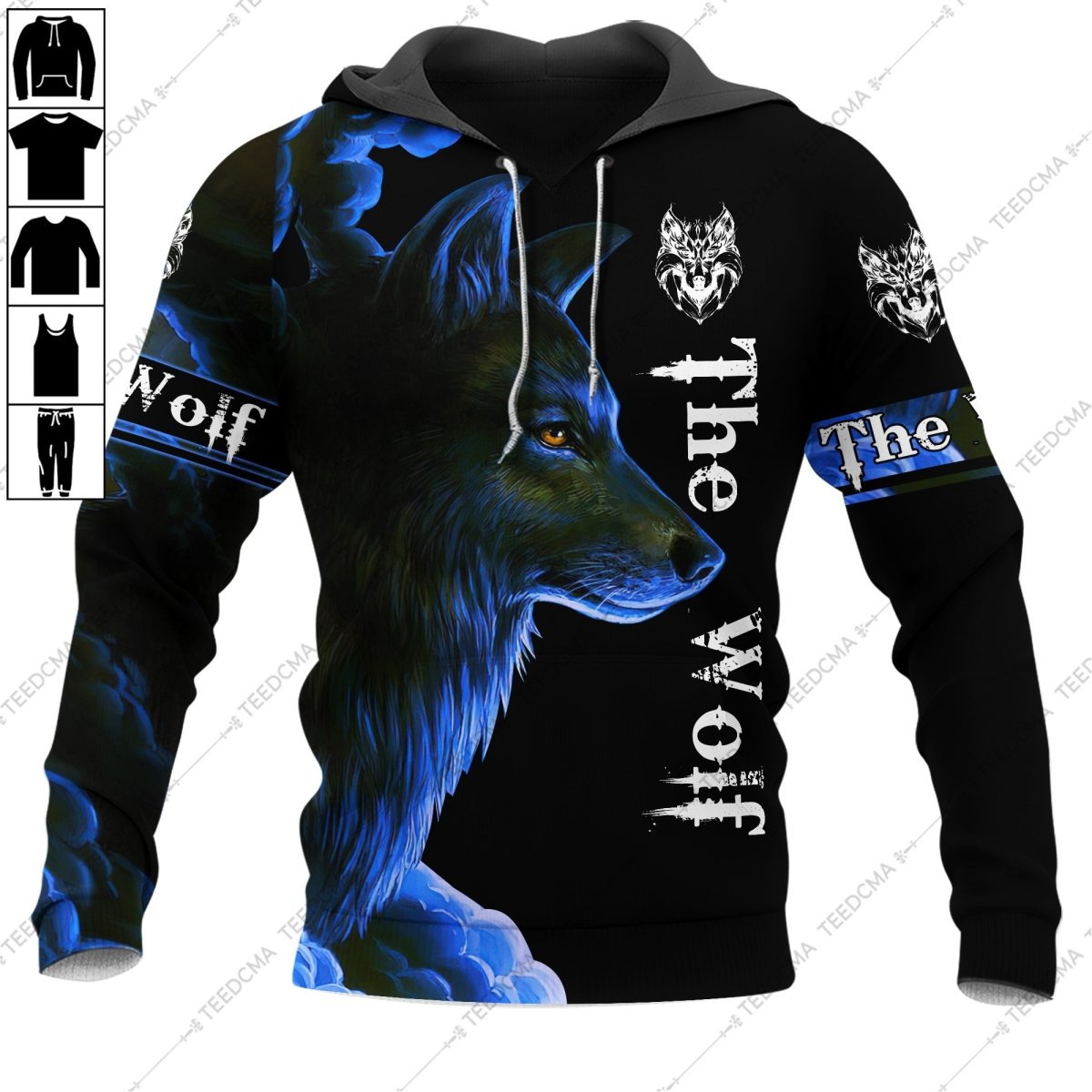 The Wolf Blue Style Hoodie 3D