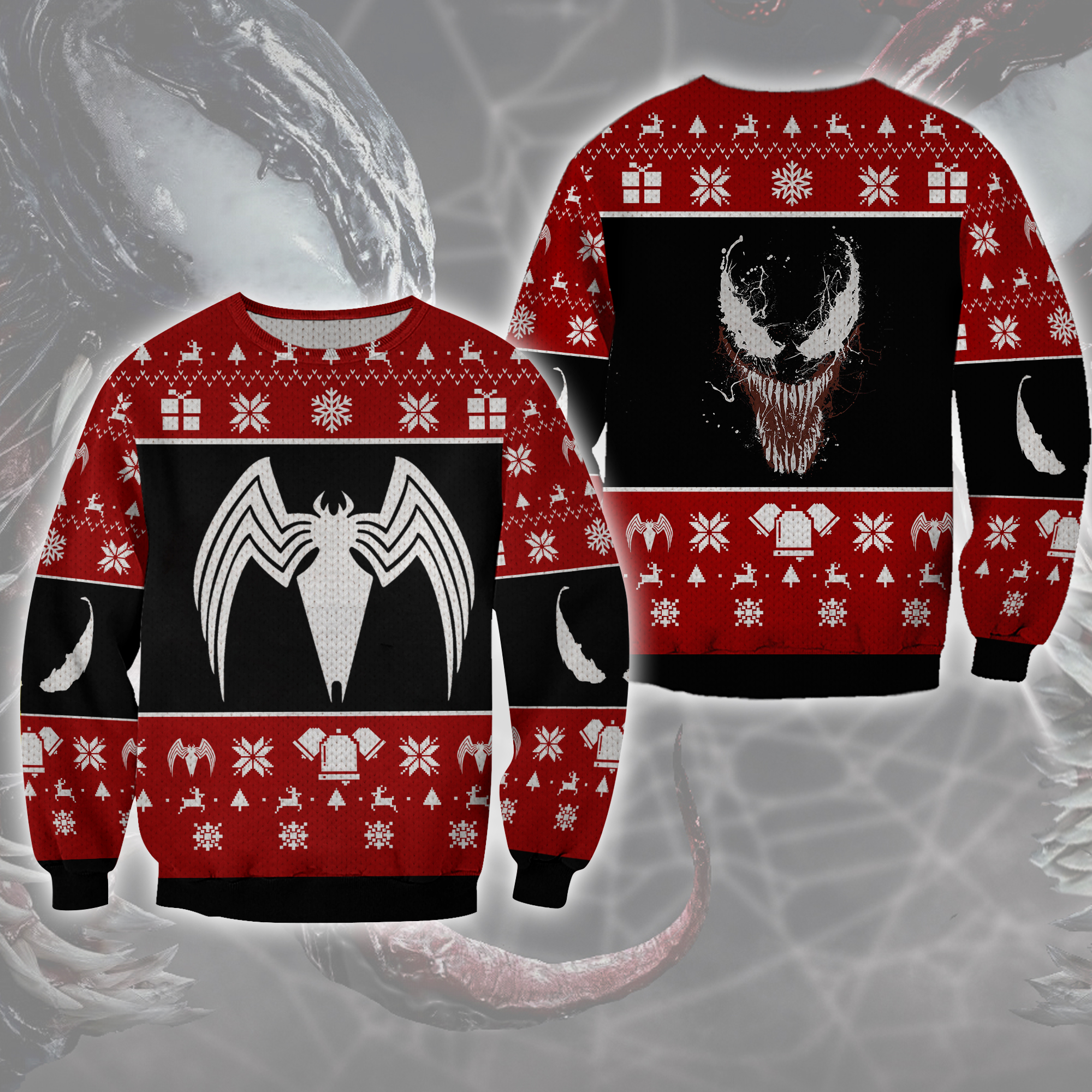 We are Venom Ugly Bat Sweater Christmas