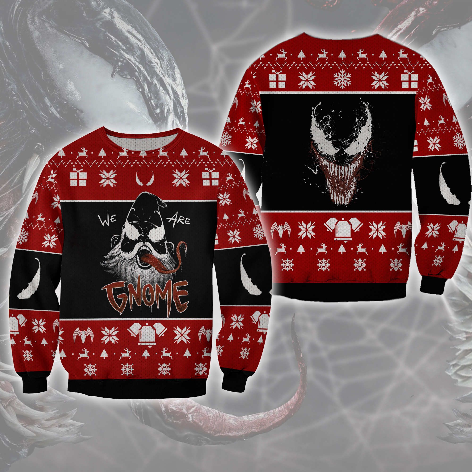 We are Venom Gnome Woolen Ugly Sweater Christmas