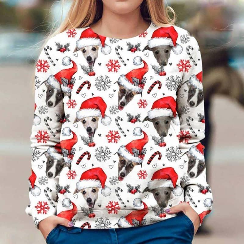 Whippet Christmas Premium Sweatshirt
