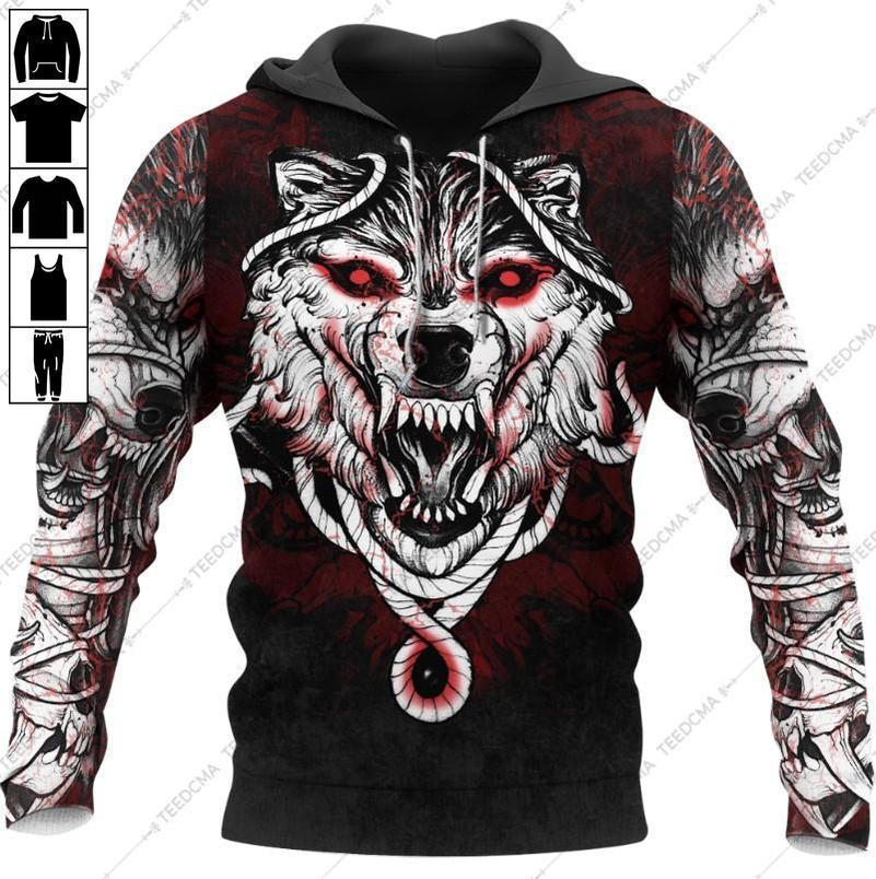 Wolf Blood Hoodie 3D