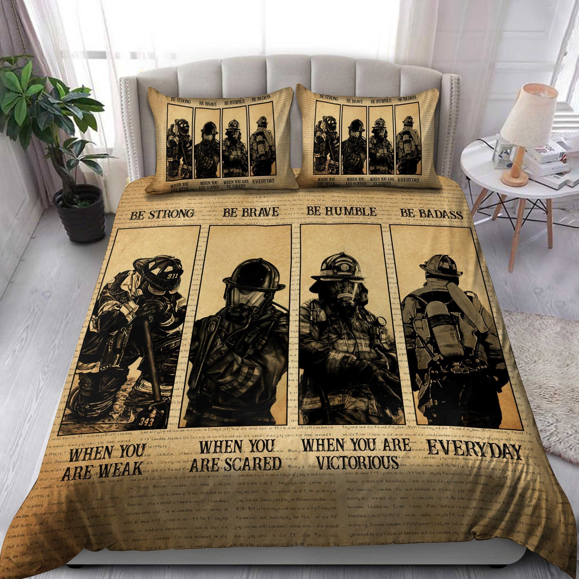 We Are Firefighters Bedding Set